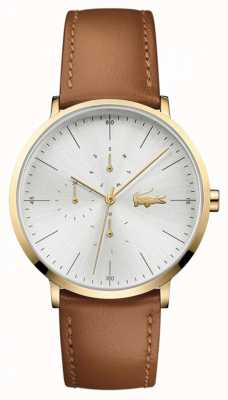 Lacoste Moon Brown Leather Strap Gold Plated Case 2010977