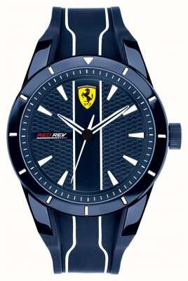 Scuderia Ferrari Mens Redrev Blue Dial Blue Rubber Strap 0830541