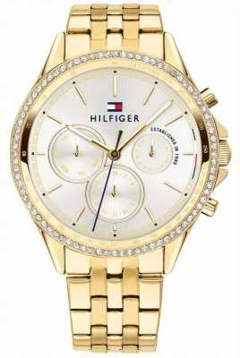 Tommy Hilfiger Womens Gold Plated Crystal Set Multifunction 1781977