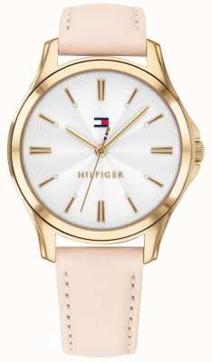 Tommy Hilfiger Womens Gold Plated Case Blush Leather 1781954