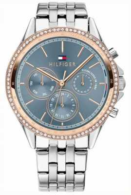 Tommy Hilfiger Women's Stainless Steel Rose Gold Plated Crystal Set Grey 1781976