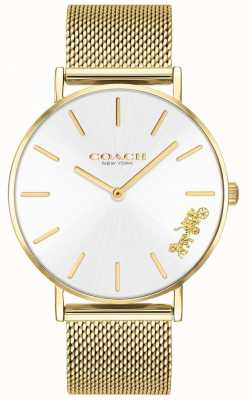 Coach Womens Perry Gold Mesh Bracelet Watch 14503125
