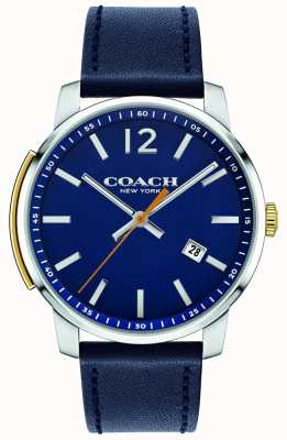 Coach Mens Bleecker Multifunction Watch Blue 14602343