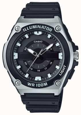 Casio Mens Black Resin Illuminator Watch MWC-100H-1AVEF