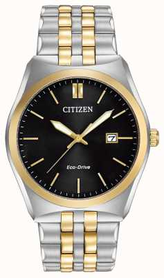 Citizen Eco-Drive Corso WR100 | Black Dial | Stainless Steel Strap | BM7334-58E
