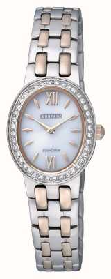 Citizen Womens Eco-Drive | Stainless Steel Strap | Crystal Set | EX1396-52A