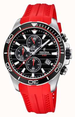 Festina Tour Of Britain 2018 Chrono Red Rubber Strap F20370/3