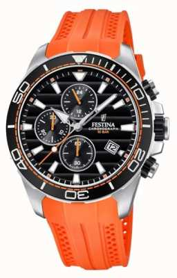 Festina Tour Of Britain 2018 Chrono Orange Rubber Strap F20370/4