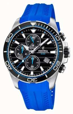 Festina Tour Of Britain 2018 Chrono Blue Rubber Strap F20370/5