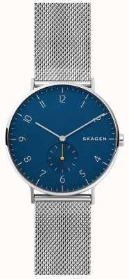 Skagen Aaren Mens Stainless Steel Mesh Blue Dial SKW6468