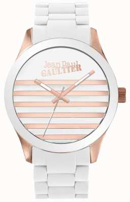 Jean Paul Gaultier Enfants Terribles Unisex White And Rose Gold Rubber JP8501126