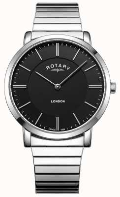 Rotary Mens London Stainless Steel Expanding Bracelet Watch GB02765/04