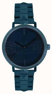 Jean Paul Gaultier Womens Bad Girl Blue Tone Bracelet Watch 8505702