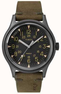 Timex Mens MK1 SST Chrono 40mm Black Case Black Dial Olive Strap TW2R97000