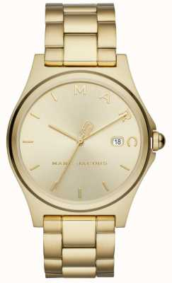 Marc Jacobs Womens Henry Watch Gold Tone MJ3584