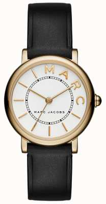 Marc Jacobs Womens Marc Jacobs Classic Watch Black Leather MJ1537