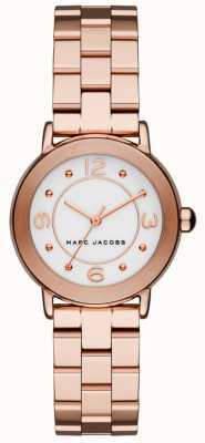 Marc Jacobs Womens Riley Watch Rose Gold Tone MJ3474