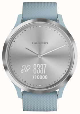 Garmin Vivomove HR Activity Tracker Blue Rubber Silver Dial 010-01850-08