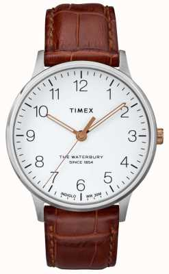 Timex Mens The Waterbury Classic White Dial With Rose Gold Hands TW2R95900