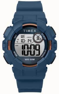 Timex Womens 44mm Blue Case Blue Strap TW5M23500