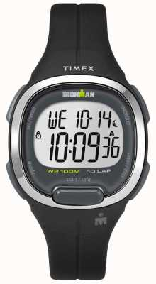 Timex Womens Ironman Essentials 10 Black And Chrome TW5M19600