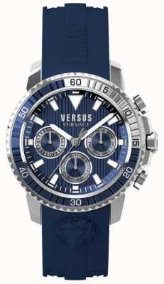 Versus Versace Mens Aberdeen Blue Silicone Strap Blue Dial S30040017