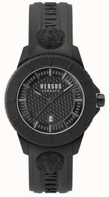 Versus Versace Tokyo R Blackdial Black Silicone Strap SPOY230018