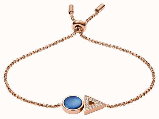 Fossil Womens Rose Gold Bracelet JF03011791