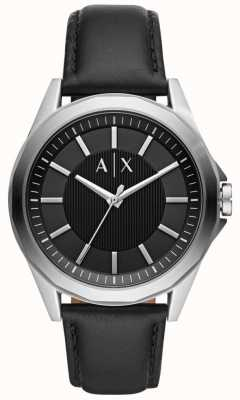 Armani Exchange Mens Dress Watch | Black leather strap | AX2621