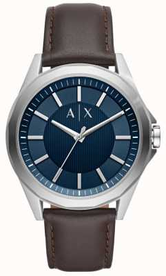 Armani Exchange Armani Exchange Mens Dress Watch Brown Strap AX2622
