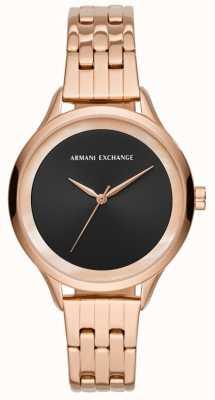 Armani Exchange Ladies Dress Watch Rose Gold AX5606