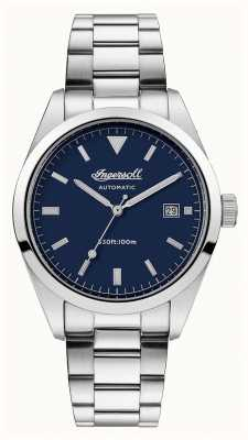 Ingersoll Mens The Reliance Stainless Steel Bracelet Blue Dial I05502