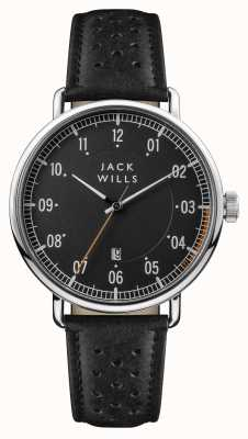 Jack Wills Mens Acland Black Dial Black Leather Strap JW003BKBK