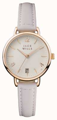 Jack Wills Womens Onslow Cream Dial Pink Leather Strap JW006PKRS