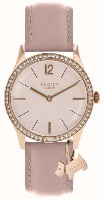 Radley Ladies Watch Rose Gold Case Cobweb Leather Strap RY2700