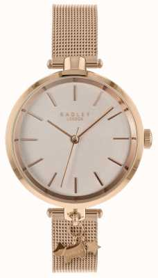 Radley Ladies Rose Gold Mesh Watch RY4364