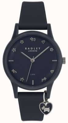 Radley Ladies Watch Silicone Strap With Silver Markers RY2691
