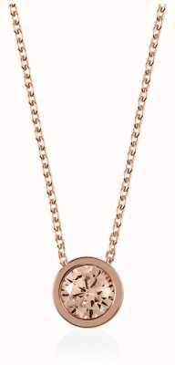 Radley Jewellery Rose Gold Fine Curb Chain With Vintage Rose Stone Set Pendan RYJ2026