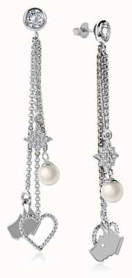 Radley Jewellery Silver Multi Charm Drop Earrings RYJ1047