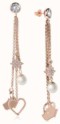 Radley Jewellery Rose Gold Charm Drop Earrings RYJ1048