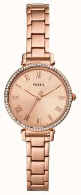 Fossil | Women's | Kinsey | Crystal Set | Rose Gold Tone Watch | ES4447