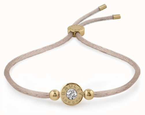 Radley Jewellery Gold/mink Stone Set Friendship Bracelet RYJ3018