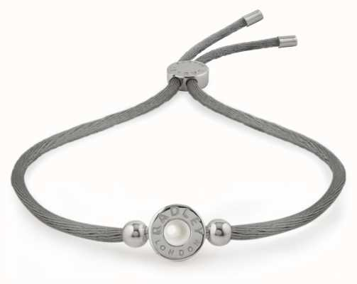 Radley Jewellery Silver/grey Pearlescent Bead Friendship Bracelet RYJ3041