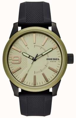 Diesel Mens RASP Watch Black Rubber Strap DZ1875