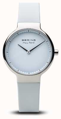 Bering Max René   Polished Silver   Silicone Strap 15531-904