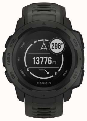 Garmin Instinct Graphite Outdoor GPS Silicone Strap 010-02064-00