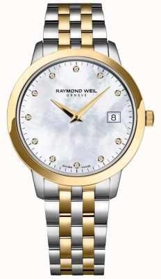 Raymond Weil Womens Toccata Diamond Dial Two Tone Bracelet 5388-STP-97081