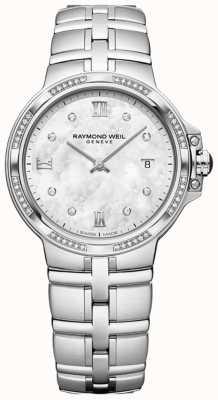 Raymond Weil Parsifal Ladies Quartz Classic| 56 Diamond | Mother-Of-Pearl 5180-STS-00995