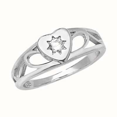 Treasure House Silver Babies Cubic Zirconia Ring G7399CZ