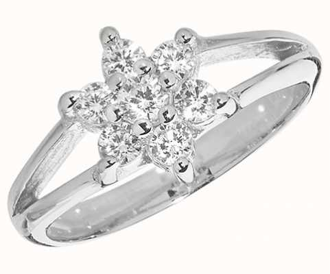 James Moore TH Silver Babies Cubic Zirconia Ring G7461